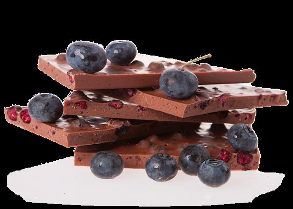 Vollmilch Heidelbeere - Bioschokolade