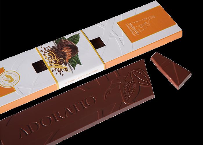 Karamellisierte Kakaonibs Bio Schokolade