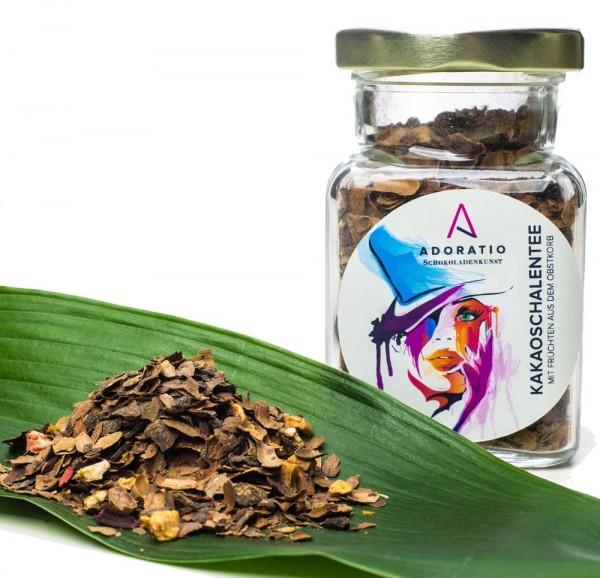 Bio Kakaoschalen-Tee mit Blüten und Früchten