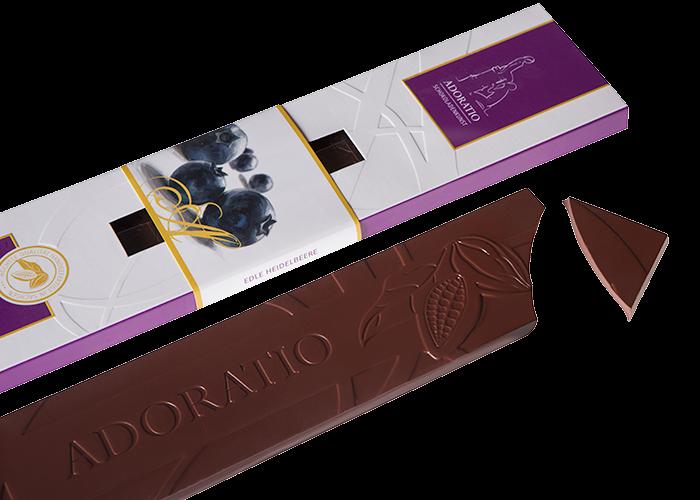 Edle Heidelbeere Bio Schokolade