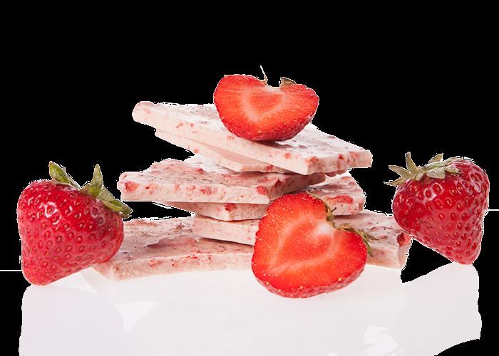Weiss Erdbeer & Macawurzel Bio Schokolade