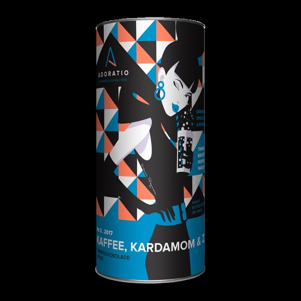 Kaffee, Kardamom & Zimt Bio-Trinkschokolade Weiss
