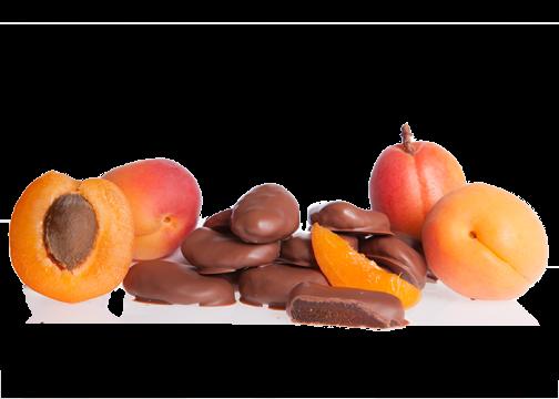 Aprikosen in Bioschokolade Vollmilch