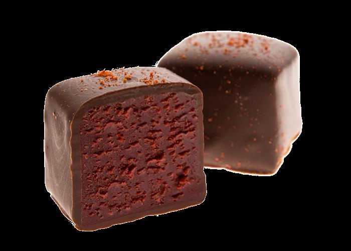 Kirsch Chili Trüffel in Bio Schokolade