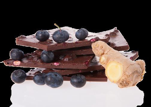 Edelbitter Heidelbeer Ingwer Bio Schokolade
