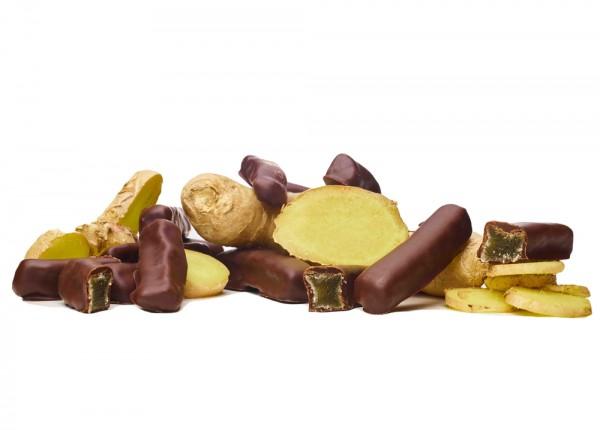 Ingwer kandiert in Bioschokolade Edelbitter
