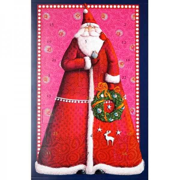 Adventskalender mit 24 handgefertigten Pralinen & Trüffeln gefüllt - Motiv Nikolaus