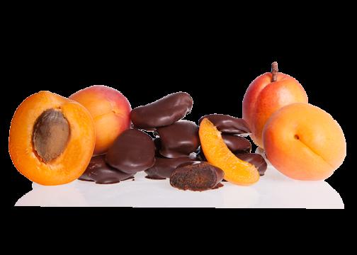 Aprikosen in Bioschokolade Edelbitter