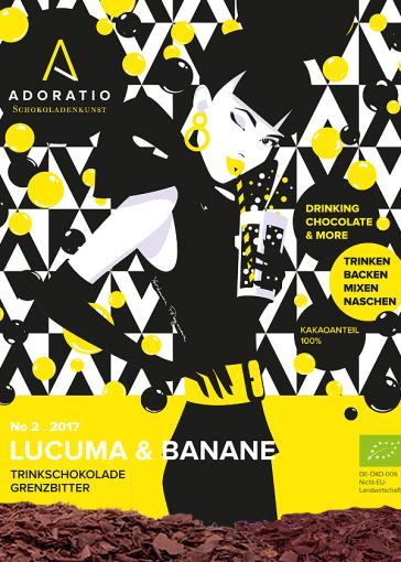 Lucuma & Banane Bio Trinkschokolade Grenzbitter