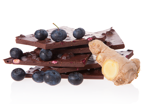 Edelbitter Heidelbeer Ingwer - Bioschokolade