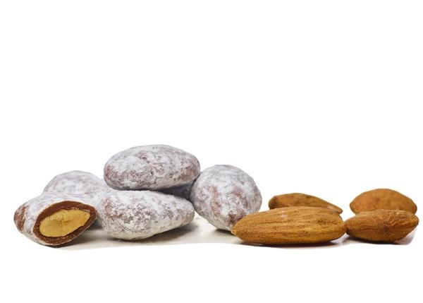 Mandeln karamellisiert in Bioschokolade Vollmilch