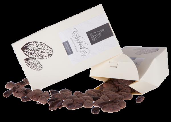 Bio Kakaobohnen fermentiert & schokoliert in Bio Schokolade Vollmilch