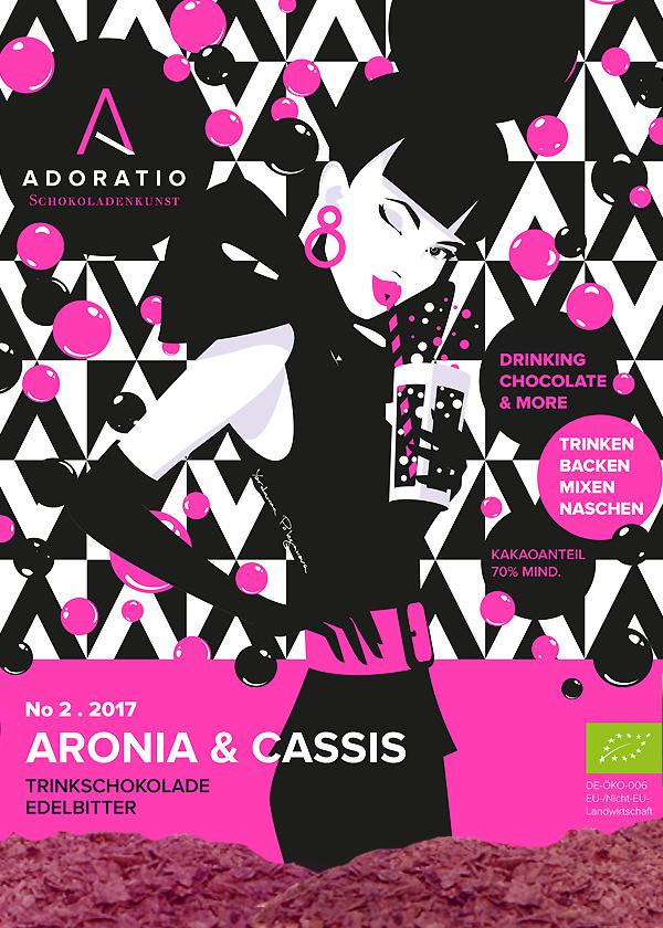 Aronia & Cassis Bio Trinkschokolade Edelbitter
