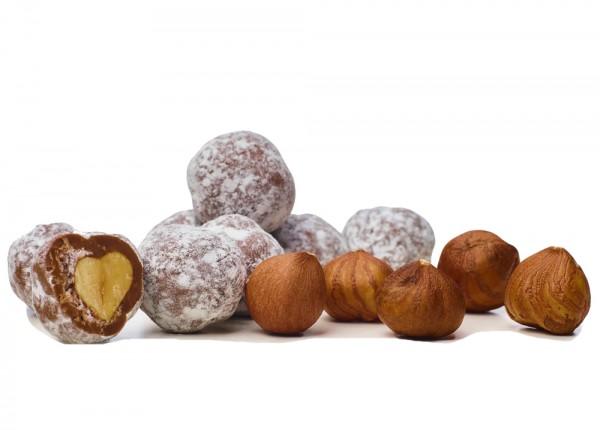 Haselnüsse geröstet & karamellisiert in Bioschokolade Vollmilch