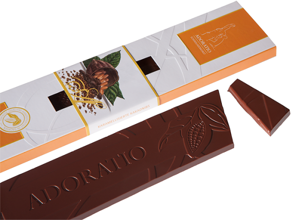 Karamellisierte Kakaonibs - Bioschokolade