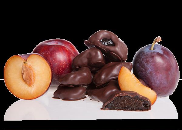 Pflaumen in Bioschokolade Edelbitter