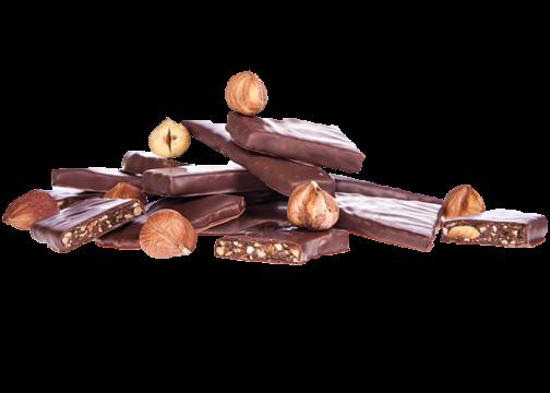Bio Haselnusskrokant in Bioschokolade Vollmilch - saisonales Osterprodukt