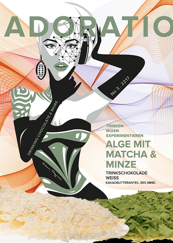Alge & Matcha Trinkschokolade Weiss
